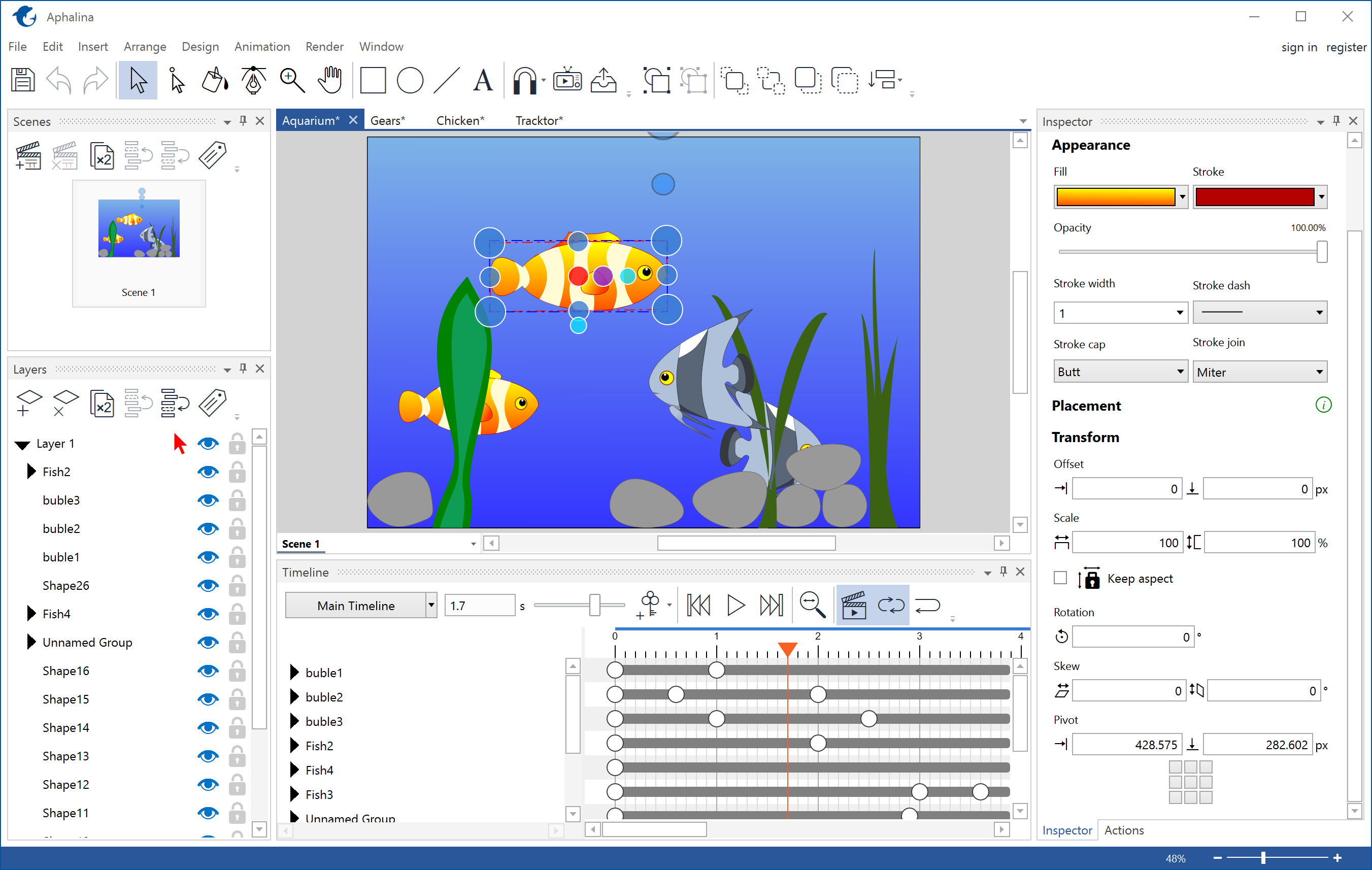 Aphalina Html5/SVG Animation Tool v1.2.1